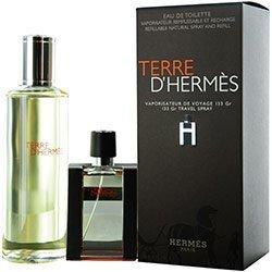 Hermès Terre D'Hermes Set-Edt Spray Refillable 1 Oz (H Bottle Limited Edition) & Edt Refill 4.2 Oz by Hermes