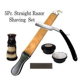 5 Pc Straight Razor Shaving Set / Kit
