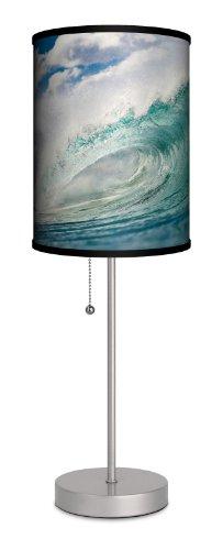 "Lamp-In-A-Box SPS-FAR-SDCLO Featured Artists - Sean Davey ""Cloud Puff Curl"" Sport Silver Lamp"
