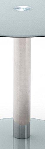 Tisch-Glastisch-Kchentisch-Beistelltisch-EsstischSulentisch-rund-Sicherheitsglas-lackiert-petrol-trkis-grau-Sule-verchromt-Durchmesser-Tischplatte-100-cm-Bodenplatte-495-cm-B-H-T-100-77-100-cm