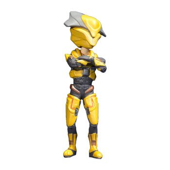 Halo XBOX Live Avatars McFarlane Toys Series 1 Yellow Elite Figure