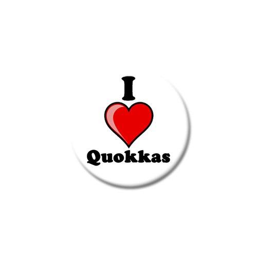 """Set von drei I Love quokkas Kühlschrank Magnete-verschiedene Größen-25mm & 38mm, Printed Design, 25mm (1"""")"""