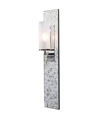 Home Philosophy Mother of Pearl 1-Light Panel Sconce, Mother of Pearl