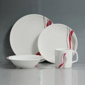 Ribbons 16 Piece Melamine Tableware Set