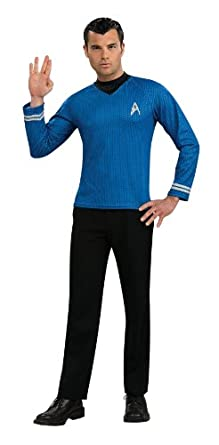 Rubie's Costume Star Trek Into Darkness Spock Shirt With Emblem, Blue, Small Costume