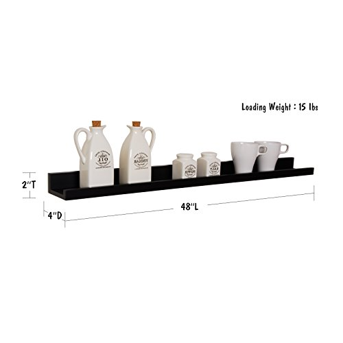 Welland 48 inch x 4 inch x 2 inch photo ledge picture for Wall shelves and ledges
