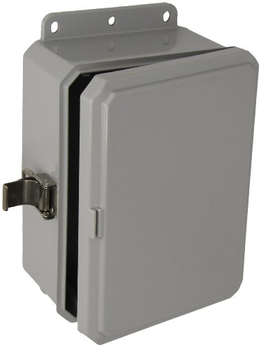 "Integra P8063Lpll Impact Line Enclosure, Low Profile Hinge, Stainless Steel Locking Latch, Integrated Flange, 8"" Height, 6"" Width, 3"" Depth"