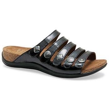 Dansko Women's Janie Sandal Black Patent Size 36