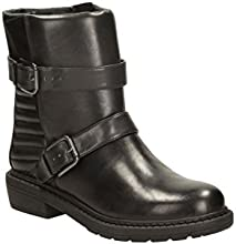 Clarks Womens Casual Clarks Danelle Mist Leather Boots In Black