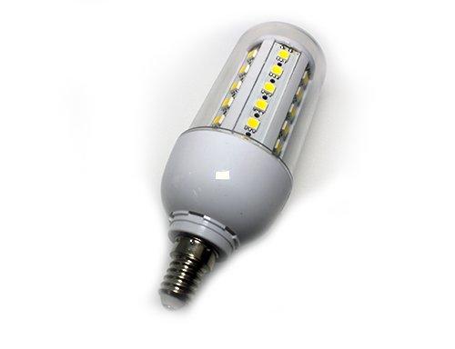 , E14, 7 W, SMD-LED-Leuchtmittel, GLS, Kalt-Weiß