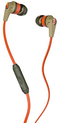 Skullcandy Riot with Mic1 Earbuds Camo/Orange/Slate, One Size