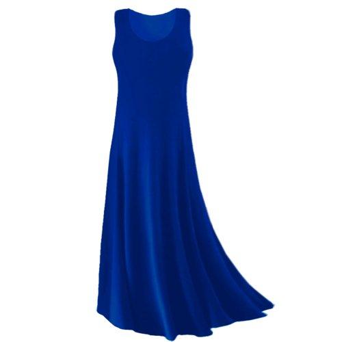 Sanctuarie Designs Women'S /4X /Royal Blue Princess Cut Plus Size Supersize Slinky Tank Maxi Dress/4X /./