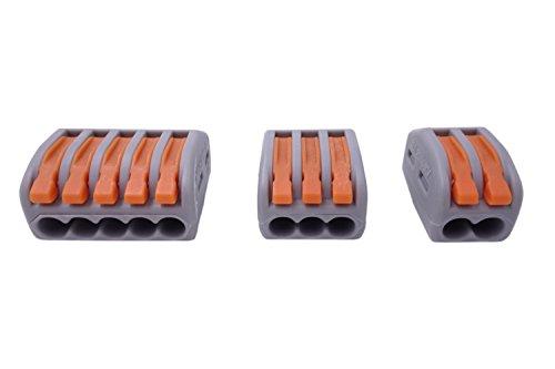 Qadira 222-412 (20pcs) 222-413 (20pcs) 222-415 (16pcs) Lever-Nut Assortment Conductor Compact Wire Connectors Pack-56pcs (Electric Spark Plug Cleaner compare prices)