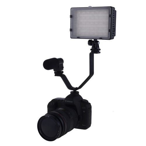 Neewer® V shape Dual Mount Bracket Hot Shoe for Video Lights & Microphones on Cameras and Camcorders image