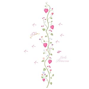 RoomMates Repositionable Childrens Wall Sticker - Fairy Princess Height Chart (cm)