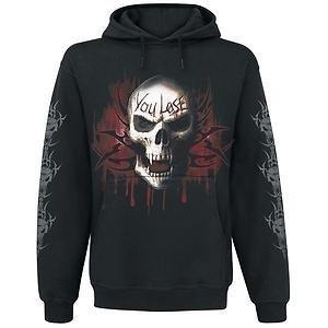 Spiral Direct Mens Game Over Sweatshirt Hood Top Black S 36