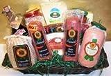 Italian Salami Antipasto and Gourmet Treats Basket