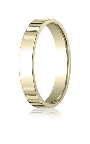 14K Yellow Gold, 4.0mm Flat Comfort-Fit Ring (sz 11)