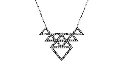 House of Harlow 1960 Tessellation Collana in argento, la metallizzazione, lucidi