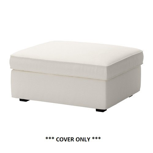ikea kivik cover for foostool ottoman with storage dansbo white cover only. Black Bedroom Furniture Sets. Home Design Ideas