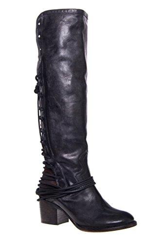 Coal Tall Low Heel Boot
