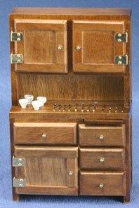 Dollhouse Hutch & Accessories Walnut