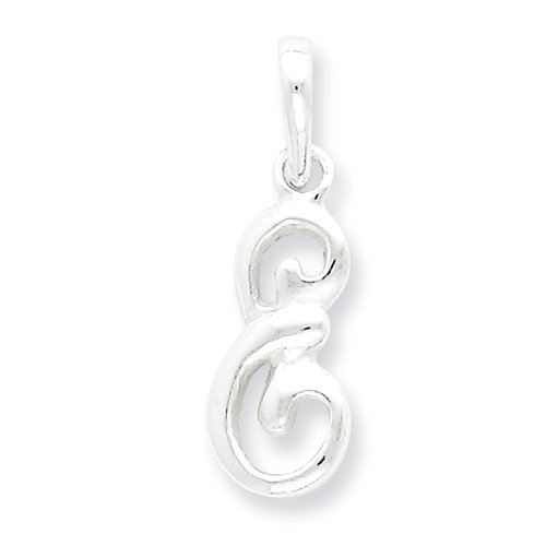 Sterling Silver Initial E Pendant