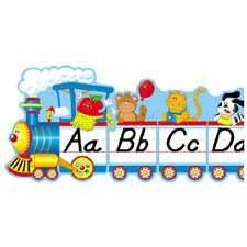 CDPCD3206 - Bulletin Board,Alphabet Train,9 Pcs.,Grades PK-5,12-1/2x1