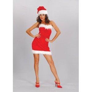 SEXY SANTA Ladies Christmas Fancy Dress Small