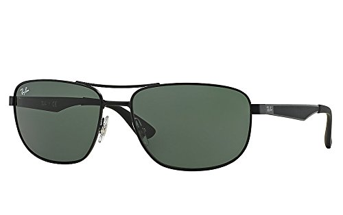 Ray-Ban Mens 0RB3528 Square Sunglasses, Dark Brown,Dark Brown & Rubber Brown, 58 mm