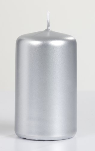 Metallic Pillar Candle Size: 2