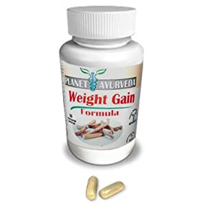 Gain Weight Pills 60 Tablets - Planet Ayurveda Gain Weight Fast - Weight Gain Plus Increase Appetite Enhancer Appetite Stimulant With Herbal Extracts - Weight Gain Pills - Weight Gain Supplement Is The Safest Weight Gainer Weight Gainer Pills For Men Wome