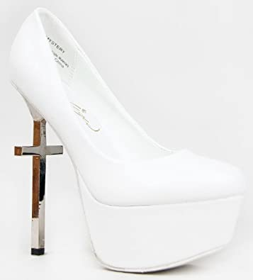 cross heel pumps