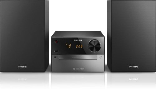 Philips-BTM2310-Kompaktanlage-mit-Bluetooth-15-Watt-BassReflex-USB-UKW-CD-MP3