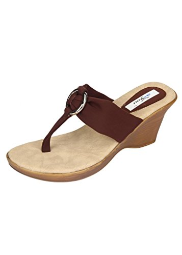 Wedges Allinyou Women's Wedges Fashion Sandals (Brown)