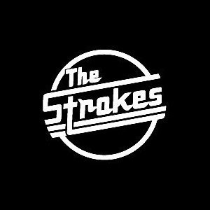 .com: THE STROKES BAND WHITE LOGO VINYL DECAL STICKER: Automotive