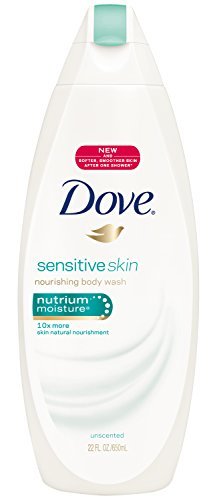 Dove Body Wash, Sensitive Skin, 22 Ounce (Pack of 4)