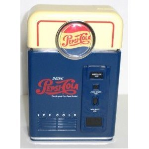 Pepsi cola coin sorter vending machine bank counts sorts and makes money rolling easy - Coin sorting piggy bank ...
