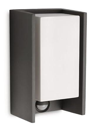 Philips Ecomoods IR-Energiespar-Wandaussenleuchte inklusiv Energiespar Leuchtmittel Bewegungsmelder Typ J (Erfassungswinkel 140°, Reichweite 6 m) 163529316