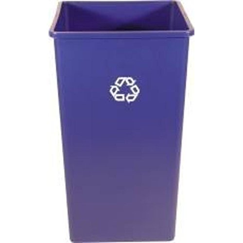 Rubbermaid commercial products 3959 73dblue square recycling container 50 gal home garden - Garden waste containers ...