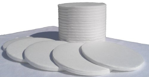 Nevada Weighingtm Brand Alternative To Dyn-A-Med Style 90Mm Binderless Glass Fiber Sample Pads For Moisture Analyzers - 1 Case Of 2400 (12 Boxes Of 200) Sample Pads