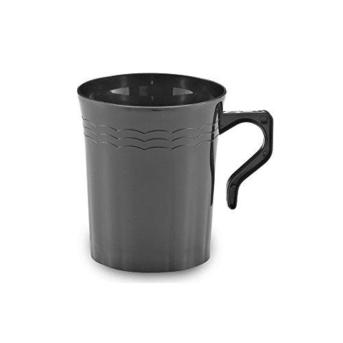 Emi Yoshi Koyal Resposables Coffee Mugs, 8-Ounce, Black, Set Of 192