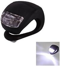 Comprar SODIAL(R) Luz Blanca con Doble LED Impermeable con Silicona Negra para Bicicleta