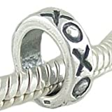 Hugs & Kisses XOXO 925 Sterling Silver Spacer Bead fits European Charm Bracelet
