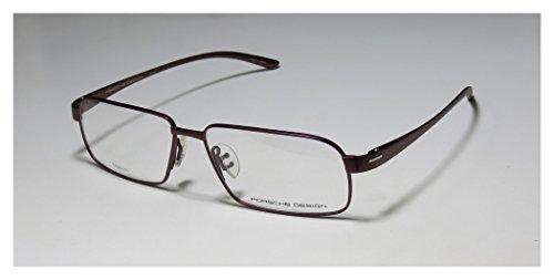 Porsche Design 8158 Mens Designer Full-rim Titanium Eyeglasses/Eyeglass Frame (57-14-140, Matte Burgundy)