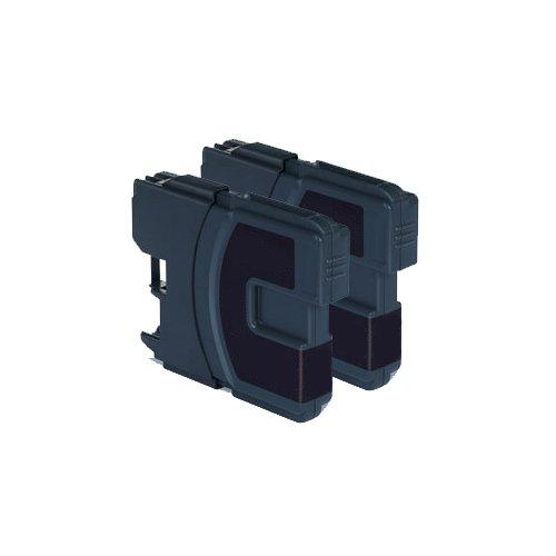 2x Brother DCP 395CN Kompatible Druckerpatronen - Schwarz