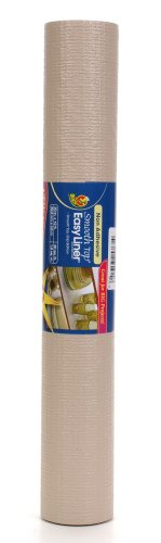 Duck Brand 855083 Non-Adhesive Smooth Top Easy Grip Shelf Liner, 20-Inch x 12-Feet, Taupe
