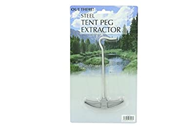 Steel Tent Peg Extractor With Plastic Handle
