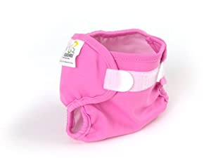 Real Nappies Snug Wrap Diaper Cover, Pink, Crawler Size, for 17 to 30lbs.