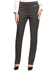 M&S Collection 2-Way Stretch Modern Slim Leg Zipped Trousers